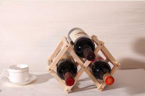 Hot-Sale Furniture Wine Rack Shelf 3 Bottle Wine Rack Folding pictures & photos