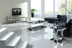 TV Stand / Living Room Furniture / Stainless Steel Table / Home Furniture / Modern Table / Glass Table / Tempered Glass Table Dg003 pictures & photos