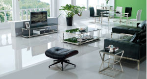Modern Living Room Set / Glass Top Stainless Steel Rectangle Coffee Table pictures & photos