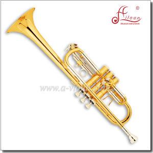Professional C Key Gold Lacquer Trumpet pictures & photos