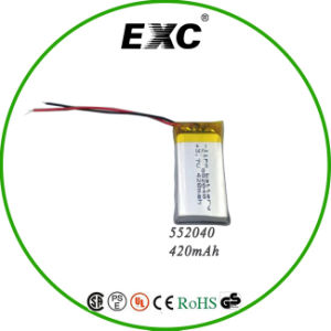 3.7V 420mAh 552040 Lipo Battery in Smart Size pictures & photos