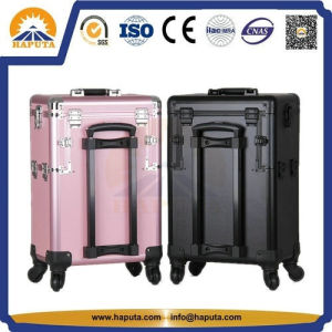 Aluminum Trolley Makeup Storage Cosmetic Case with Mirror (HB-3328) pictures & photos