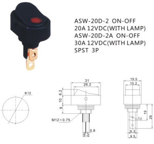 Automotive LED Light Rocker Switch for Car (ASW-20D-2) pictures & photos
