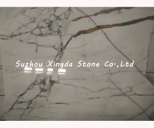 Cream White Polished Marble Slab for Building Material