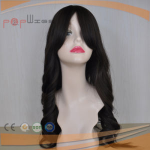 Wavy Style Full Human Hair Lace Silk Top Women Wig pictures & photos