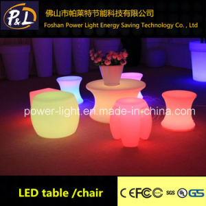 Garden Furniture Fashionable Decorative LED Illuminated Stool pictures & photos