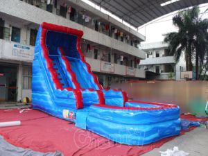 Commercial Inflatable Water Slide with Pool (CHSL511-BLUE) pictures & photos