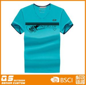 Men′s Fashion V-Neck T-Shirt pictures & photos