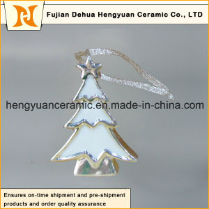 Tree Shape Electroplated Ceramic, Ceramic Pendants for The Christmas Tree pictures & photos