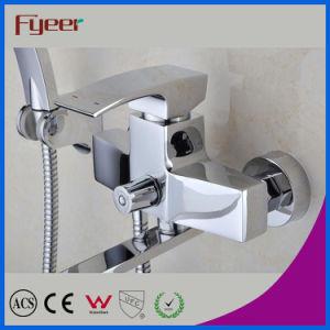 Fyeer Long Spout Bathroom Bath and Shower Mixer Faucet (QR1001D) pictures & photos