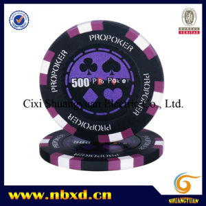 14G 3-Tone Clay PRO Poker Sticker Chip (SY-E14-1) pictures & photos