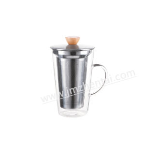 Wholesale Handmade Double Wall Clear Coffee Tea Whisky Glass Cup pictures & photos