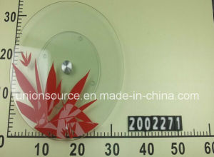 Tempered Glass Lazy Susan (CT2002271) /Flower Printing/Cake Plate pictures & photos
