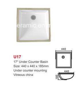 No. U17 Ceramic Under Counter Mounting Basin, Lavabo, Wash Basin pictures & photos