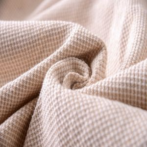 China Supplier Recycled Organic Cotton Linen Polyester Blend Fabric pictures & photos