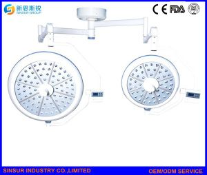 Surgical Instrument Double Dome Ceiling LED Operating Room Surgical Lights pictures & photos