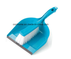 High Quality Plsastic Dustpan with Brush (3409) pictures & photos