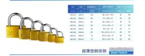 Hg101 Poloshed Brass Door Padlock pictures & photos