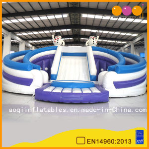 Giant Snowman Double Bouncer Slide (AQ01167) pictures & photos
