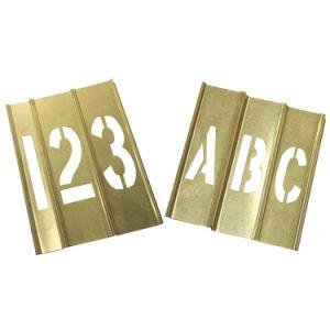 Brass Interlocking Stencil for Legible Precautions (20Y520)