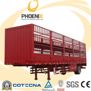 Tri-Axle Fence Cargo Semi Trailer for Carrier Livestock pictures & photos