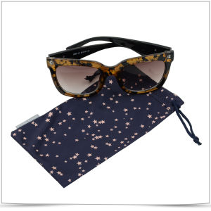 Custom Microfiber Double Side Pull Sunglasses and Cell Phone Pouch pictures & photos