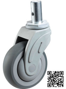Solid Stem Swivel TPR Medical Caster pictures & photos