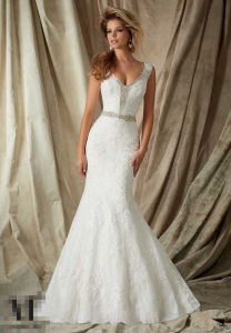 2016 Deep-V Sexy Bridal Wedding Gowns Wd1327 pictures & photos
