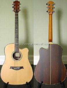 Aiersi High Grade Solid Top Acoustic Dreadnaught Guitar pictures & photos
