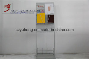 SGS Metal Poster Display Stand for Supermarket and Cosmetics Store