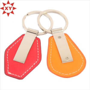 Discount Price Heart Shape PU Leather Keychain for Gifts pictures & photos