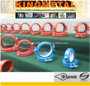 FM UL Approved Grooved Pipe Fittings Ductile Iron Rigid Coupling pictures & photos