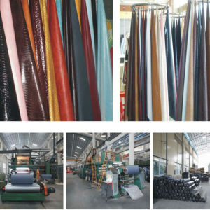 China Factory High Quality Reasonable Price PVC Leather for Making Bags pictures & photos