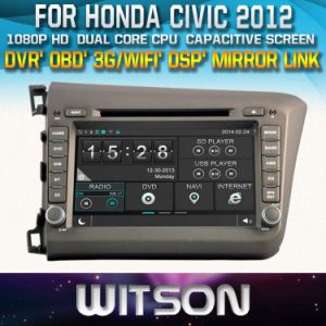Witson Car DVD Player with GPS for Honda Civic 2012 (New Arrival) (W2-D8305H) with Capacitive Screen Bluntooth 3G WiFi CD Copy pictures & photos