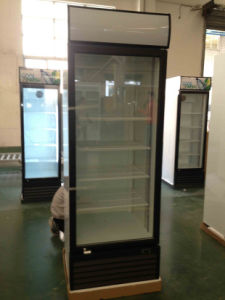 Single Door Upright Bevarage Cooler with Canopy Light pictures & photos