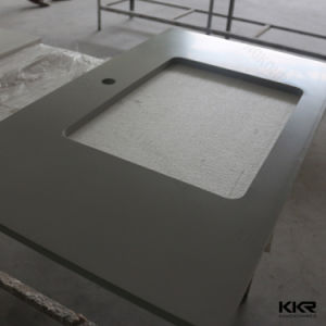 Quarzt Stone Cooking Plate and Solid Surface Kitchen Prefab Countertop pictures & photos