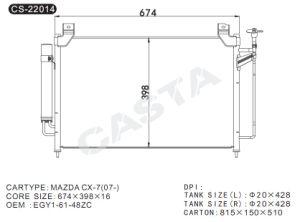 Hot sale aluminum condenser for Mazda Cx-7 (07-) pictures & photos