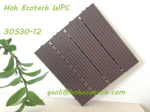 Teak Color Sandal Wood PE WPC DIY Easy Assemble Outdoor Tile Floor pictures & photos