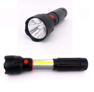 4 AAA Battery Powered LED Work Light 3W COB LED Retractable Flashlight pictures & photos