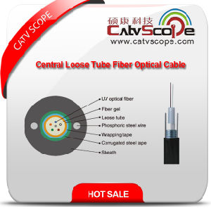 High Quality GYXTW Metallic Strength Member Central Tube Filled Sheel-PE Sheath Outdoor Optical Fiber Cable pictures & photos