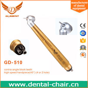 2 Hole /4 Hole Anti-Retraction Integrated 45 Degree Push-Button Handpiece pictures & photos