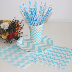 Wholesale Cheap Striped Printed Paper Drinking Straws pictures & photos