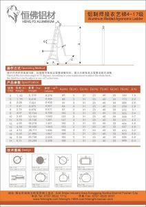 Agronomic Aluminium Ladder Aluminum Profile pictures & photos