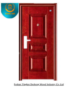 Morden Style Steel Door Forexterior Without Carving (GS-8095) pictures & photos