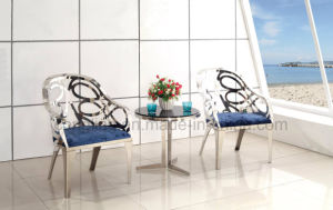 New Design Two Seater Stainless Steel Leisure Chair