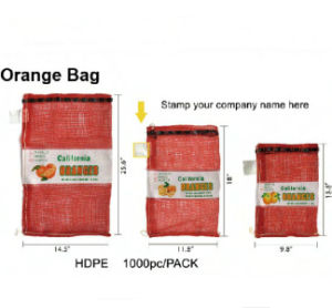 Customized Design Healthy Orange Net Bag for Fruit Packing pictures & photos