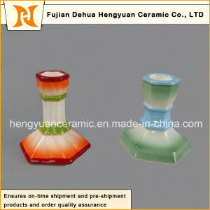Handmade Ceramic Candle Holder with Colorful Glaze (Holiday Decoration) pictures & photos