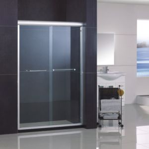 Sliding Shower Door with Double Side Easy Clean Nano Coating