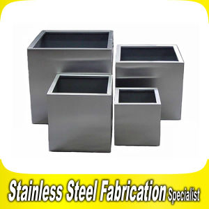 Customized Square Stainless Steel Planter Pot pictures & photos