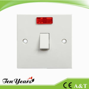 20A 1 Gang Double Pole Wall Switch with Neon